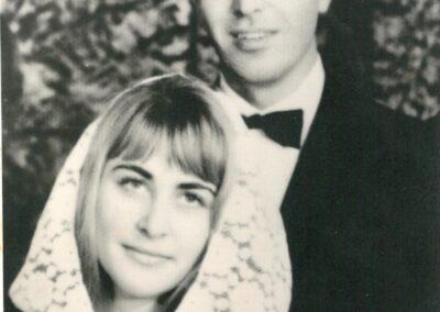 Сватбена снимка на Мария Конакчиева